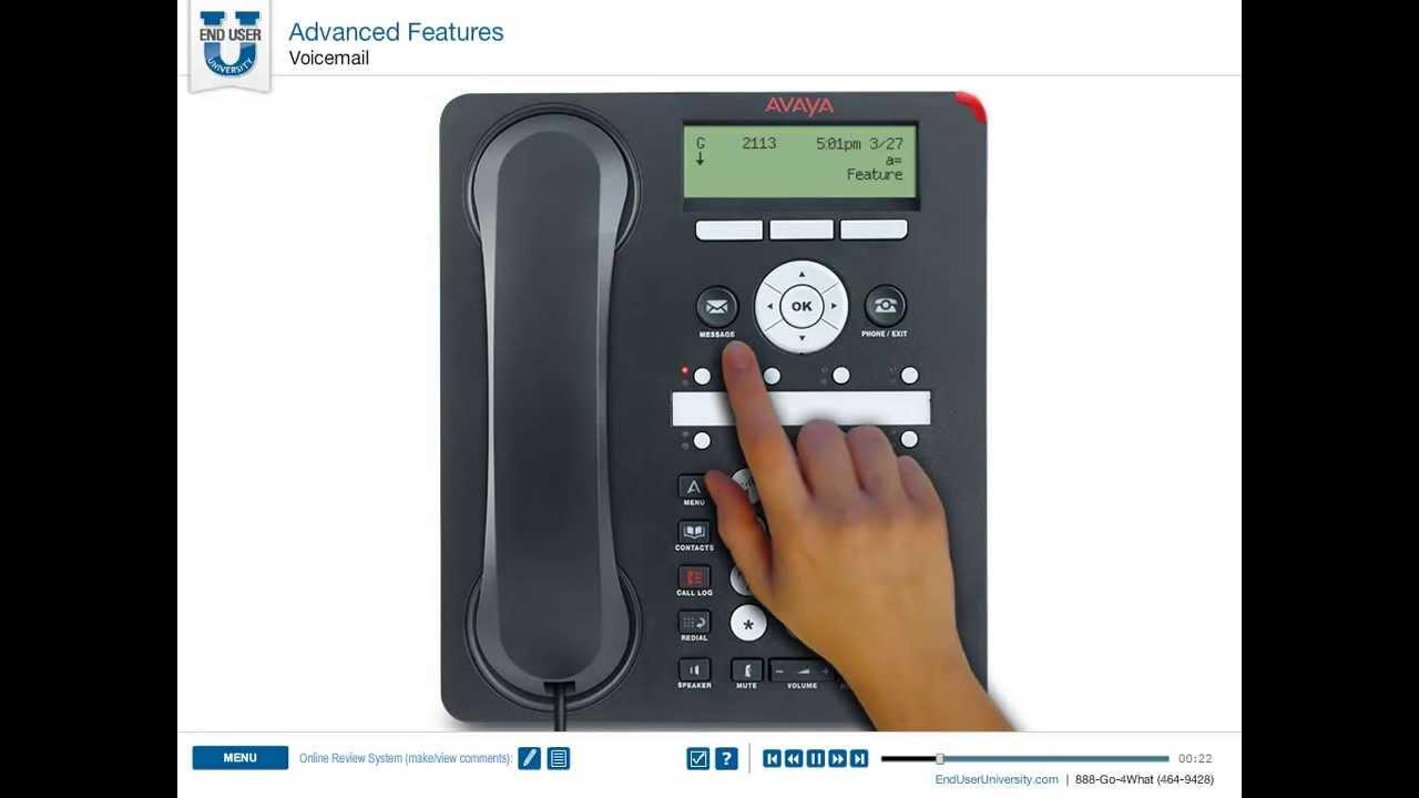 Avaya 1408 & 1608 on IP Office - Voicemail