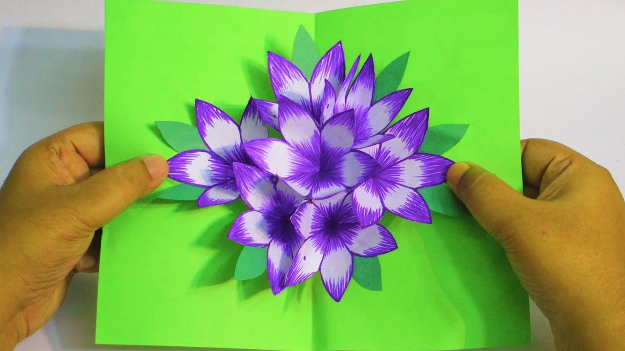 3d flower pop up carddiy  handmade pop up cards for any