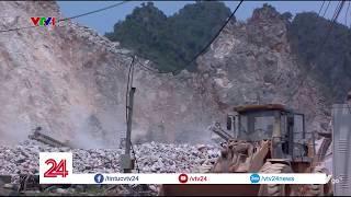Thanh tra đột xuất các mỏ khai thác đá ở Hòa Bình   VTV24