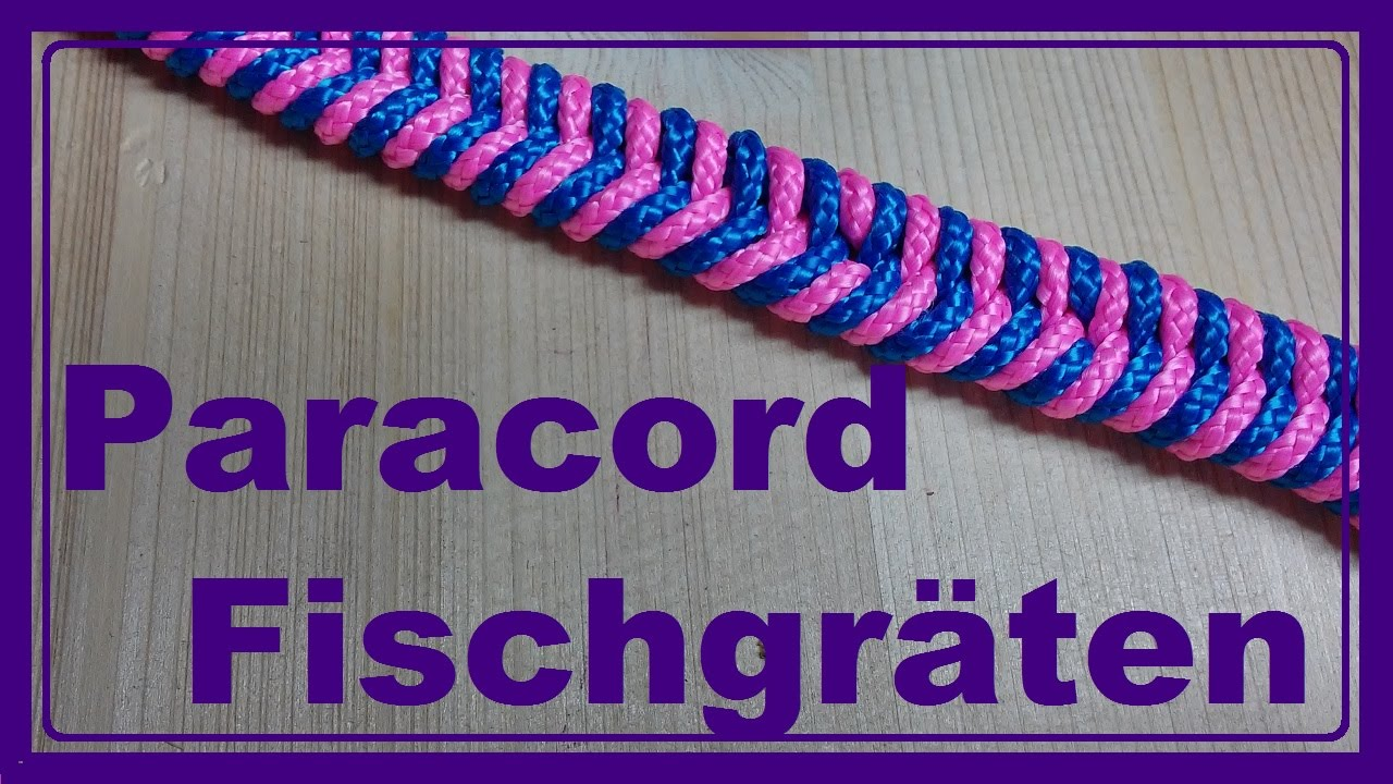 paracord armband mit fischgr ten kn pfen youtube. Black Bedroom Furniture Sets. Home Design Ideas