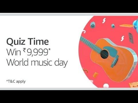 Amazon World Music Day Quiz Answer Quiz Time 21 June #WorldMusicDayQuiz