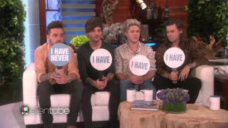 One direction playing 'Never Have I Ever' on Ellen