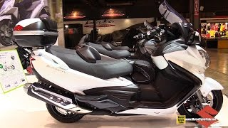 2015 Suzuki Burgman 650 Executive - Walkaround - 2014 EICMA Milan Motorcycle Exhibition