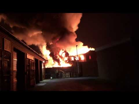 Old Goole Fire First 24 Hours ABP Docks Shipyard Abandoned Building Fire