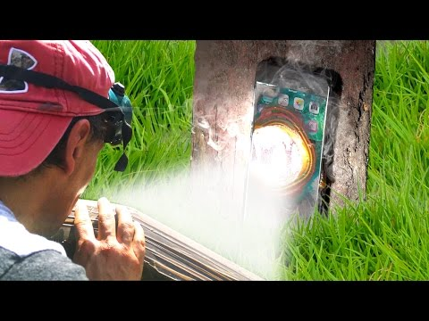 Can Solar Death Ray Melt an iPhone 7? (Parabolic Mirror)