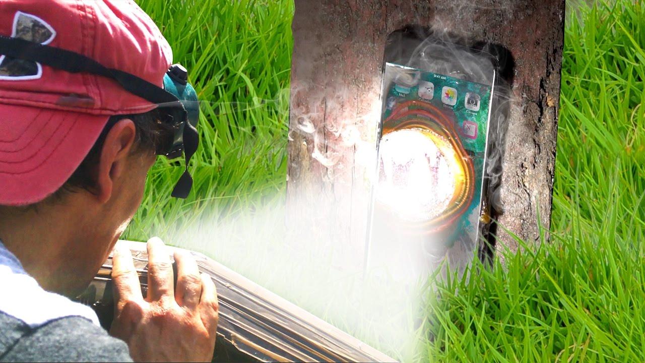Can Solar Death Ray Melt An Iphone 7 Parabolic Mirror
