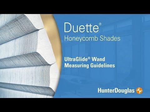 Duette® Honeycomb Shades - UltraGlide® Wand Measuring Guidelines - Hunter Douglas