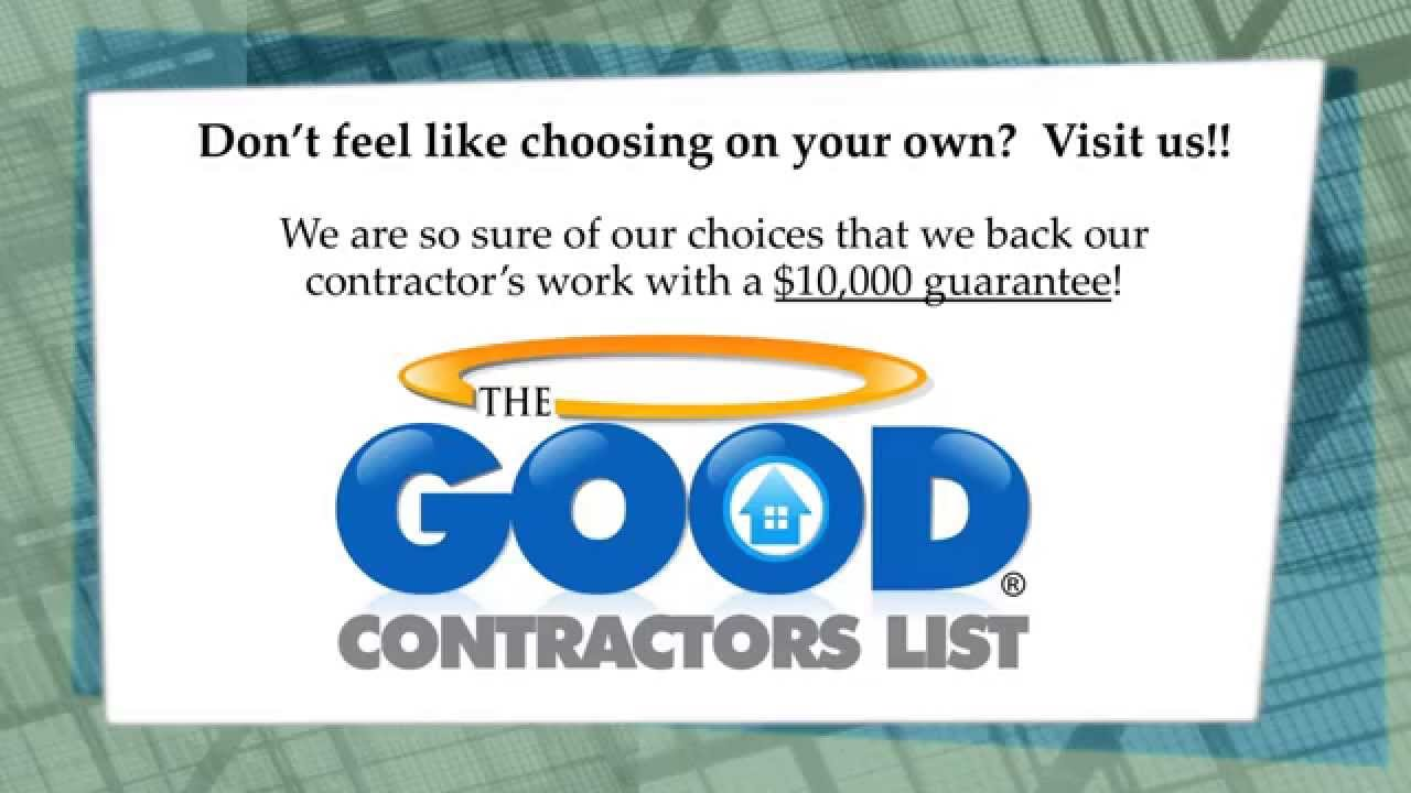 The Good Contractors List Contractor Scams Tricks Youtube