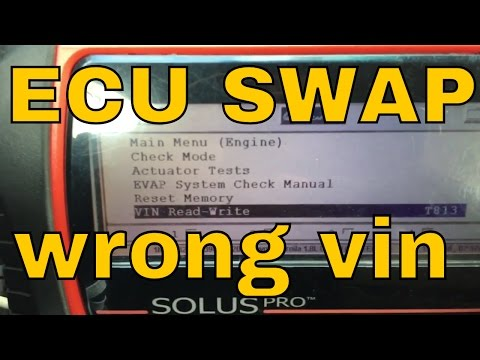 How to program VIN after ECU swap.