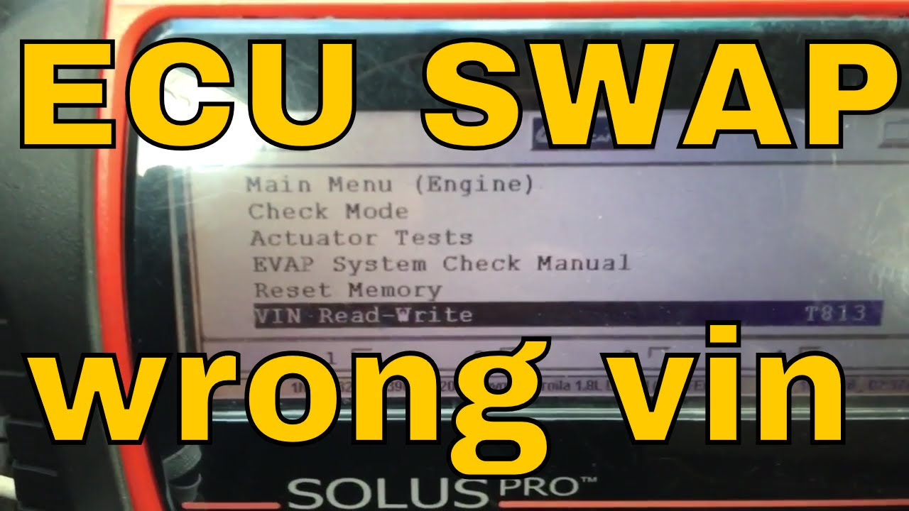 How to program VIN after ECU swap