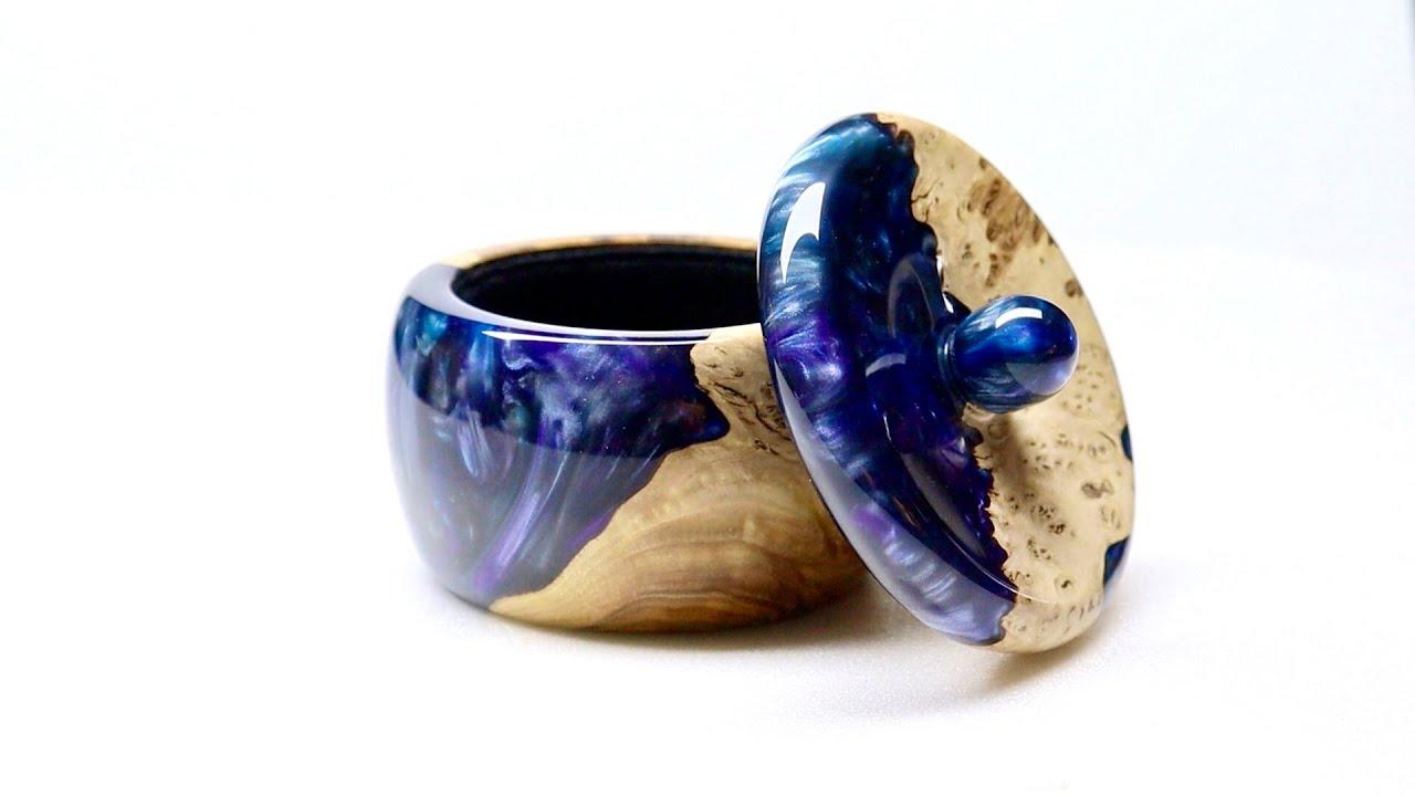 Woodturning - The Galaxy Ring Box