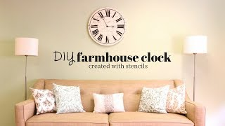 Make a Gorgeous Farm House Clock Using Stencils!