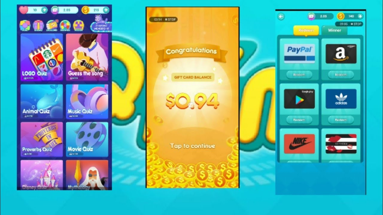 Quizdom play to win real 10$