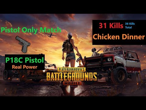 [Hindi] PUBG Mobile | Real Power Of 'P18C' Auto Pistol '31Kills' Chicken Dinner