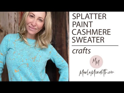 Splatter Painted Cashmere Sweater