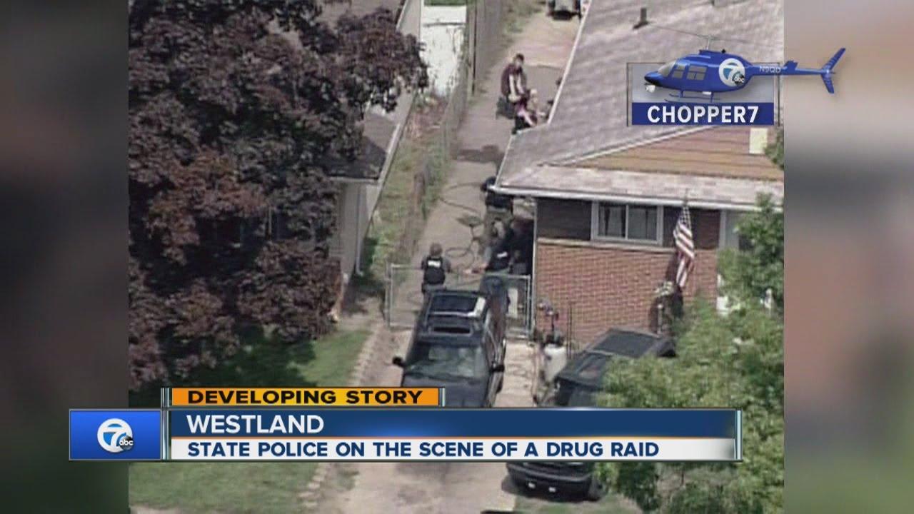 Drug raid in Westland