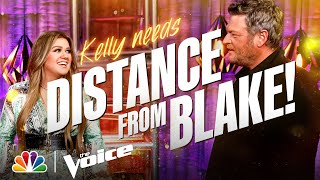 Kelly Distances Herself from Blake | The Voice Blind Auditions 2021 Outtakes