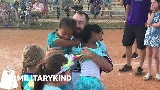 Military dad weeps as children run into arms | Militarykind