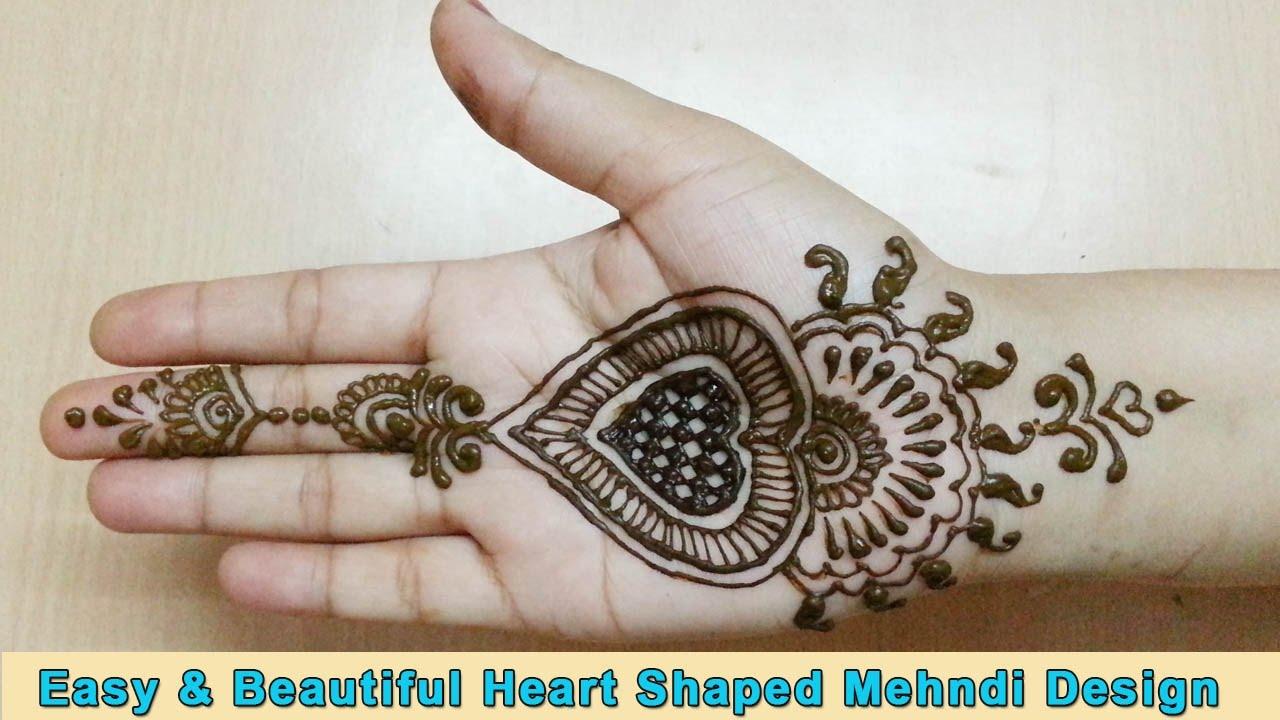 Heart Mehndi Design Images : Popular heart mehndi design latest