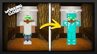 Minecraft - How To Make A Working Closet