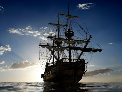 Wooden Sailing Ship On Sea Ambience, Creaking Wood, Sound ...