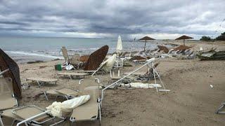 Chuva de granizo e tornados matam seis turistas na Grécia | AFP