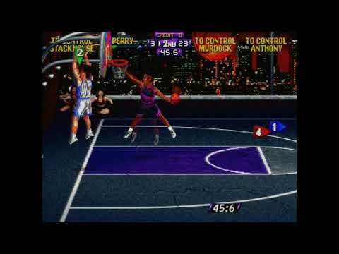 NBA Hangtime (arcade) –  76ers with Matthew Perry vs Grizzlies 66-62