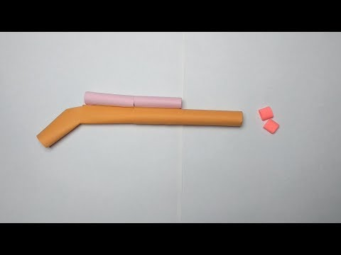 How to make a simple but amazing paper gun that shoots and hurts easy without tape