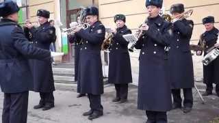 «Марш Артиллеристов».  Военный духовой оркестр в Пушкине. 2015