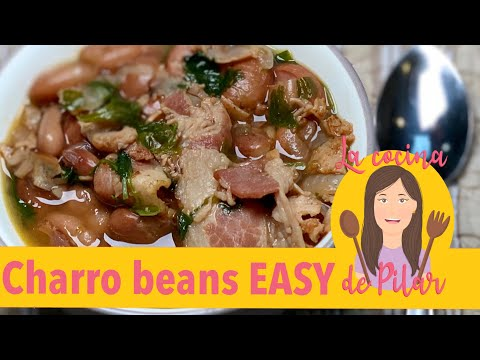 How To Make Charro Beans Mexican Recipe Easy // PILARS KITCHEN