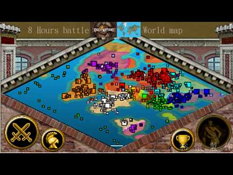【Rise of Nations】8 hours battle in world map time lapse