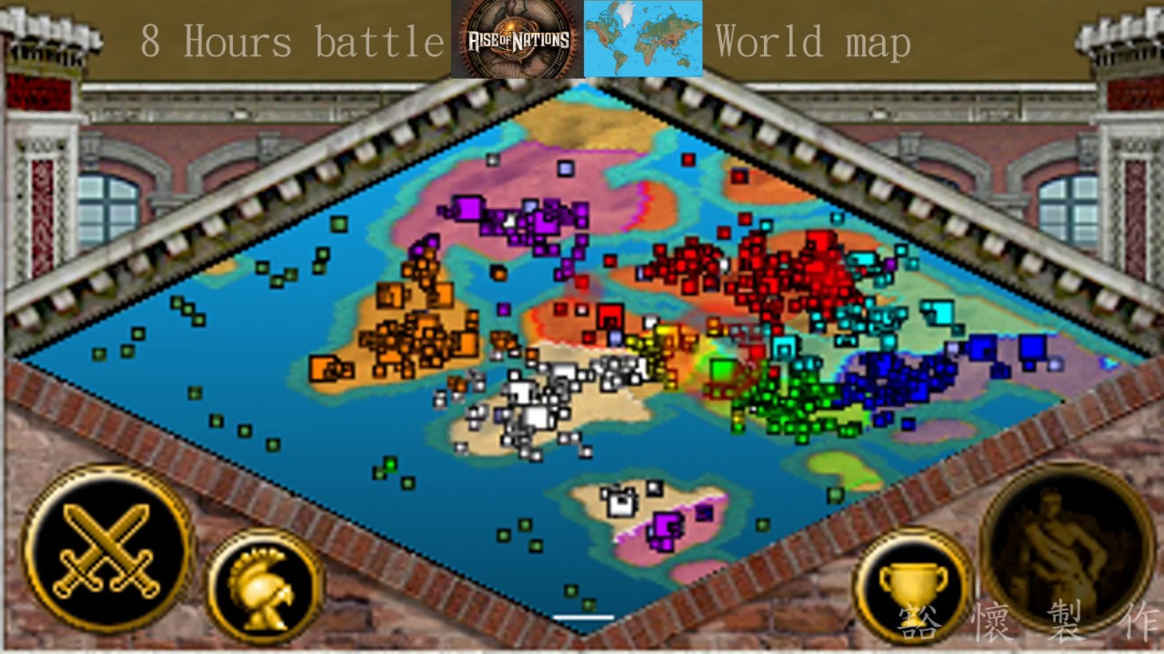 Rise of nations8 hours battle in world map time lapse youtube rise of nations8 hours battle in world map time lapse gumiabroncs Image collections