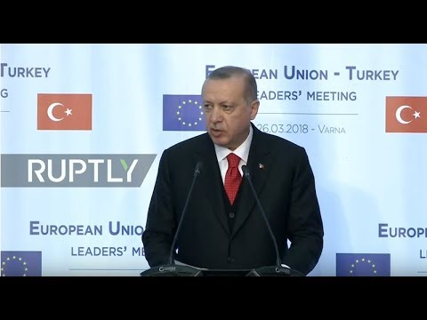 LIVE: EU-Turkey leaders' joint press conference in Varna