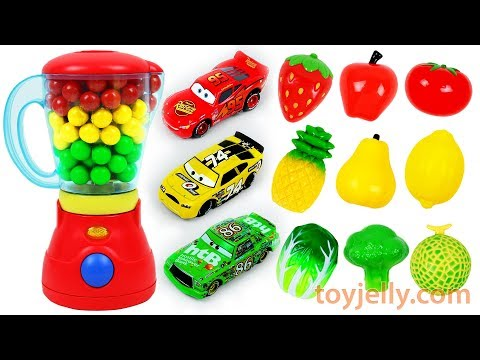 Fruits & Vegetables Velcro Toys Learn Colors Feeding Baby Food Disney Cars Toy Mixer Blender Playset