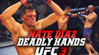 EA UFC 3 Online Ranked: Nate Diaz Letting The Hands Go! Deadly Combos On EA Sports UFC 3