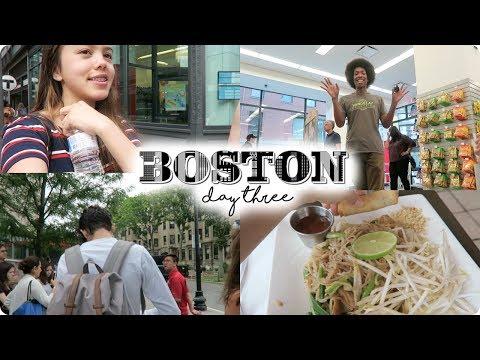 BOSTON DAY 3 VLOG: Boston University, Thai Food, and Bird Poop!