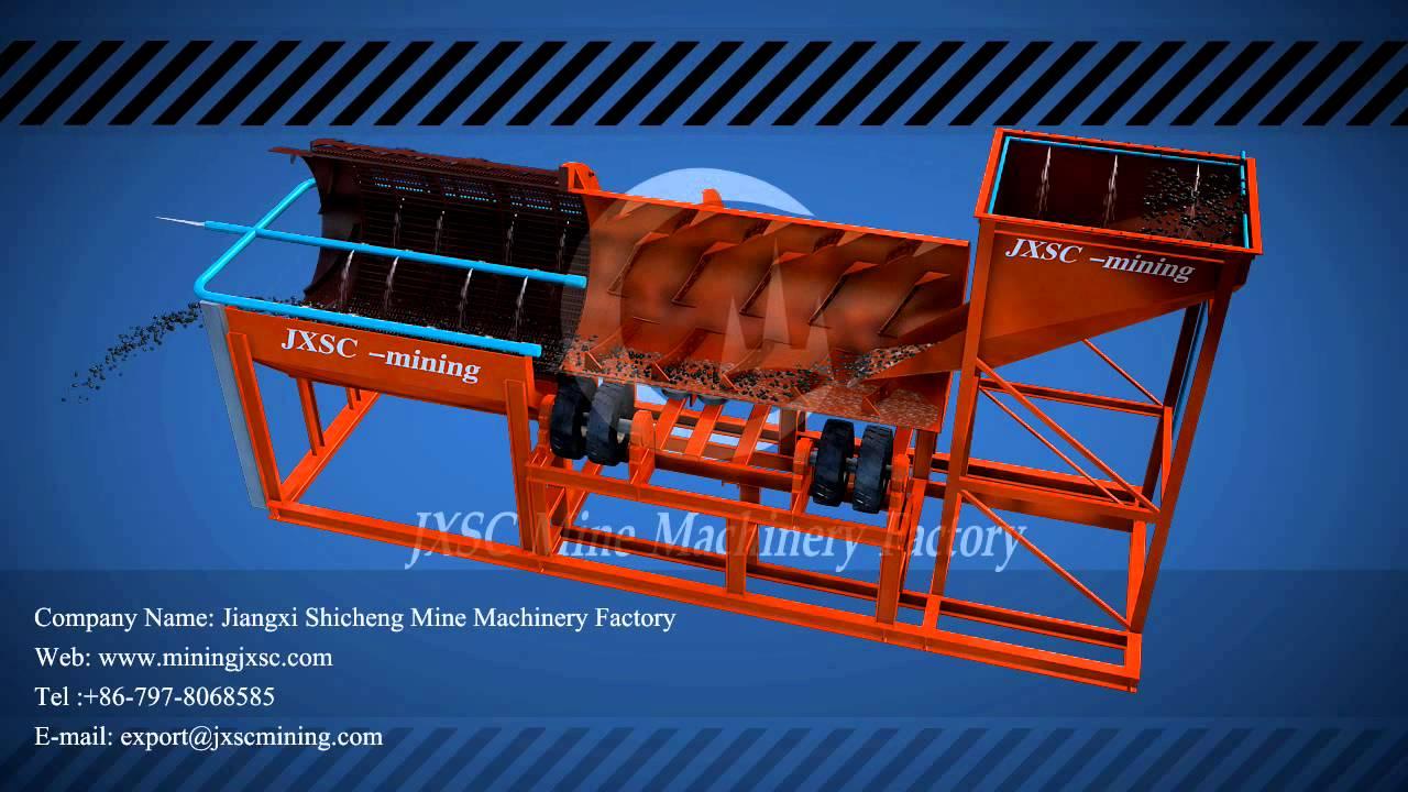 Trommel scrubber - Jiangxi Shicheng Mine Machinery Factory