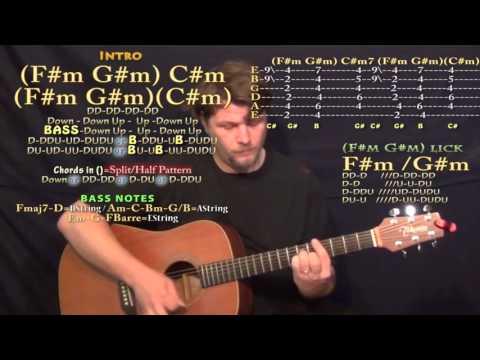 Exchange (Bryson Tiller) Guitar Lesson Chord Chart