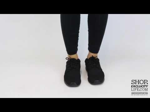 Women's Nike Roshe OneTriple BlackOn feet Video at Exclucity