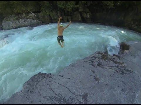 River jump at Eagle Falls, Skykomish River
