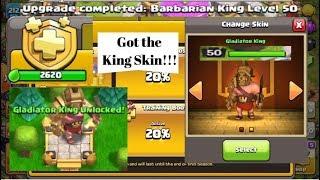 Unlocking the New Gladiator King Hero Skin on Clash of Clans