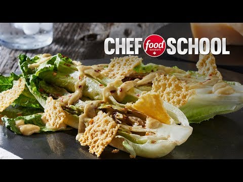 Grilled Caeser Salad With Homemade Dressing   Chef School