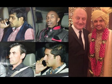 suresh rainas wedding guest list dhoni dhawandwayne