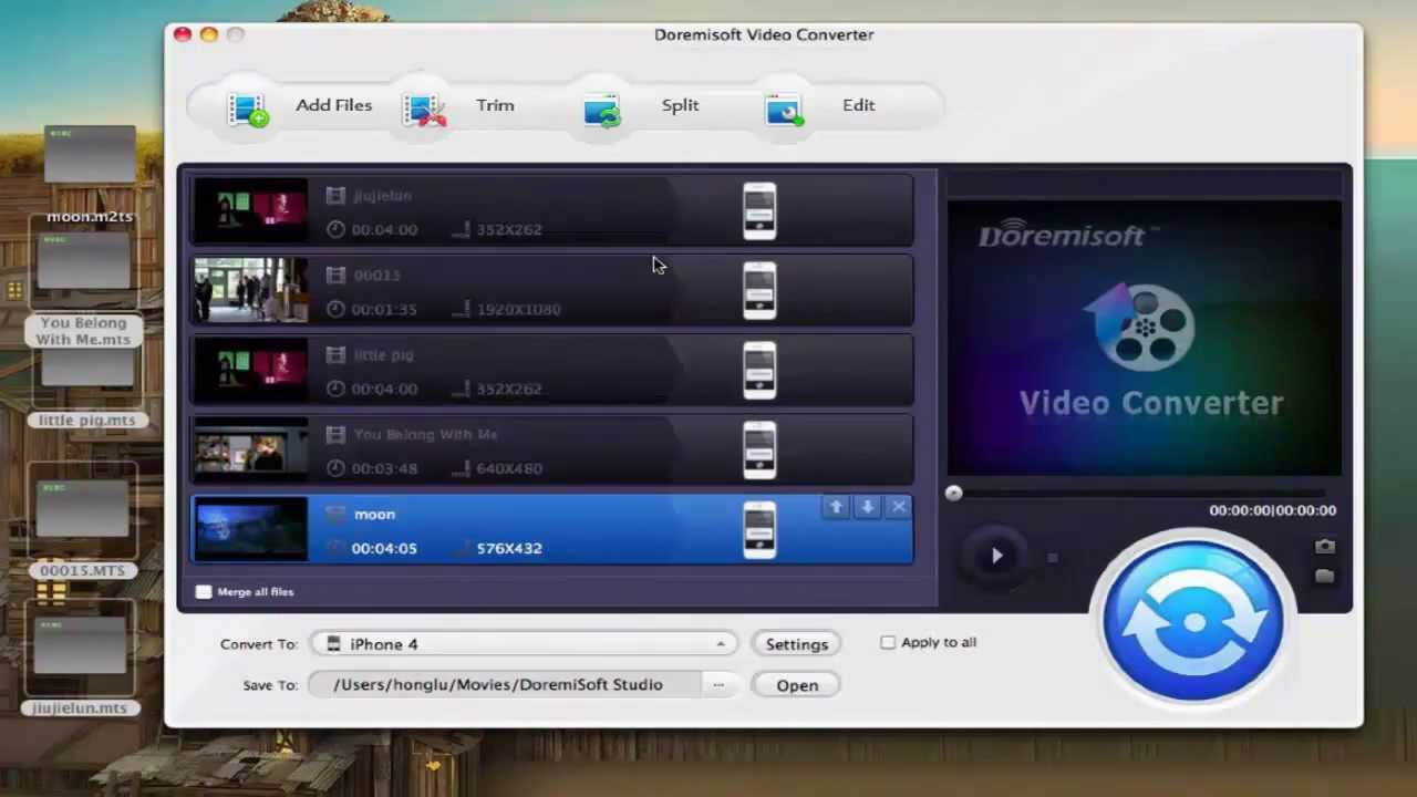 MPG AVI MKV MTS MP4 VOB AVI Play Movies Video HD Anymp4 Blu-Ray Player for MAC
