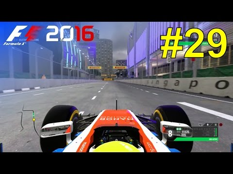 F1 2016 - Career Mode #29: Singapore Grand Prix - Free Practice & Qualifying