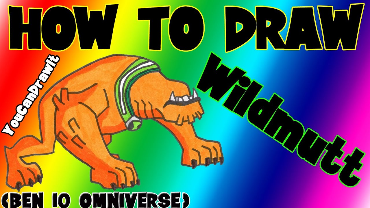 How to draw ben10 alien xlr8 - How To Draw Wildmutt From Ben 10 Omniverse Youcandrawit 1080p Hd Youtube