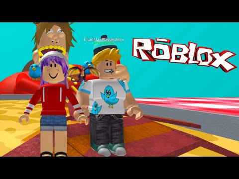 ROBLOX ESCAPE THE GIANT FAT GUY OBBY | RADIOJH GAMES & GAMER CHAD