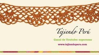 Cenefa para aplicar tejida a crochet # 9