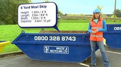 Skip Hire Info - 6 Cubic Yard 'Maxi' Skip - Available from TJ Waste