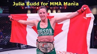 Julia Budd Interview Before Talita Nogueira at Bellator 202